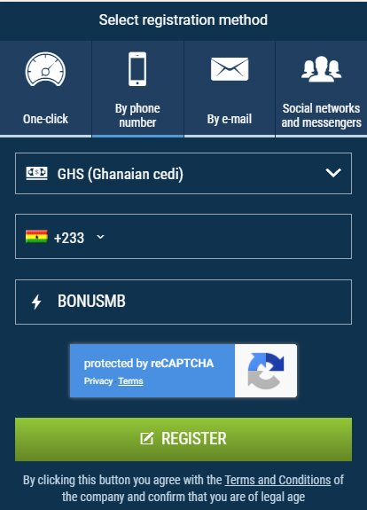 1xBet Registration by Social Networks