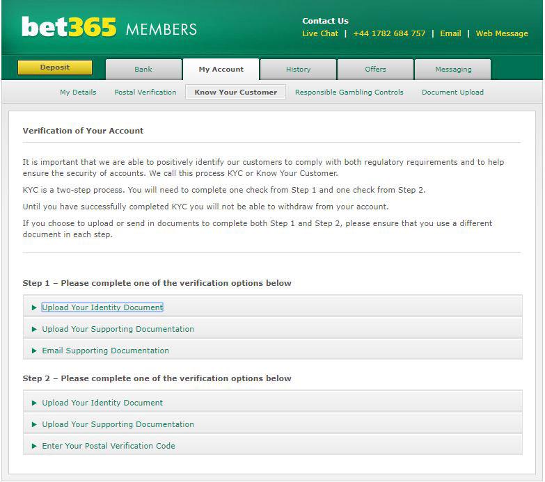 bet365 Verification