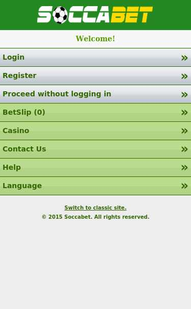 Mobile SoccaBet Registration