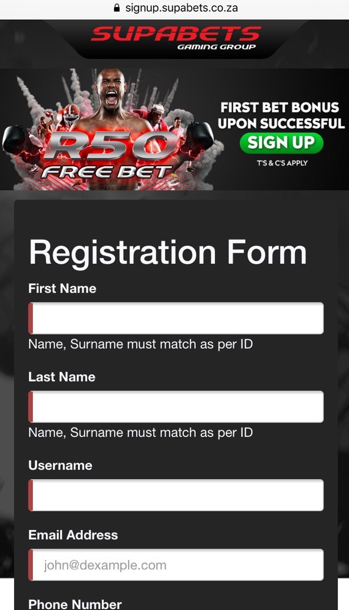 SupaBets Register